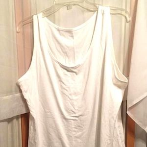 Tops - White Cotton Camisole Tank Top